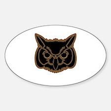 owl head 01 Sticker (Oval)