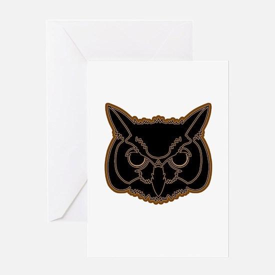 owl head 01 Greeting Card