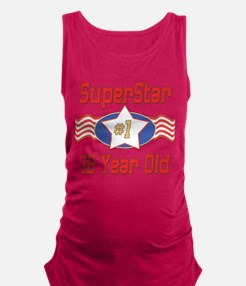 SUPERSTARbirthday12.png Maternity Tank Top