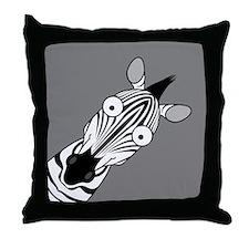 Happy Zebra Throw Pillow