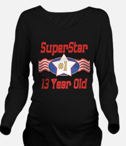 SUPERSTARbirthday13.png Long Sleeve Maternity T-Sh