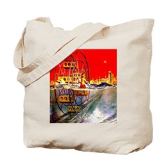 Sea-Going Ferris Wheel Tote Bag