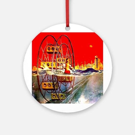 Sea-Going Ferris Wheel Ornament (Round)