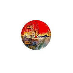 Sea-Going Ferris Wheel Mini Button