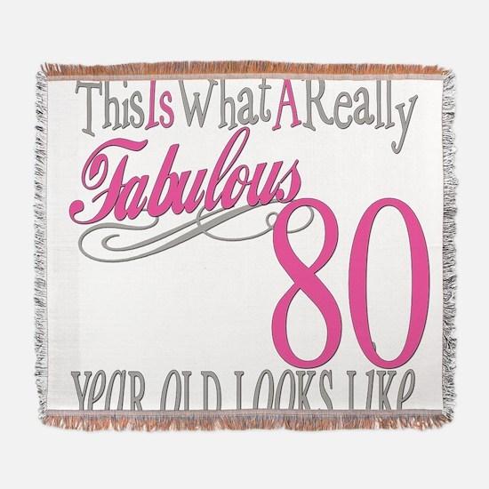 Fabulous 80yearold.png Woven Blanket