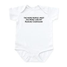 Redbone Coonhound: people I m Infant Bodysuit