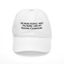 Redbone Coonhound: people I m Baseball Cap
