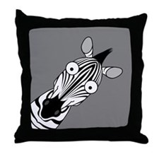 Happy Zebra Throw Pillow