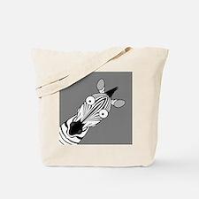Happy Zebra Tote Bag