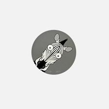 Happy Zebra Mini Button (10 pack)