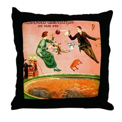 Suspended Gravitation Throw Pillow