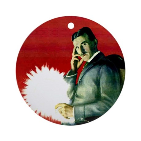 Tesla Wireless Light Ornament (Round)