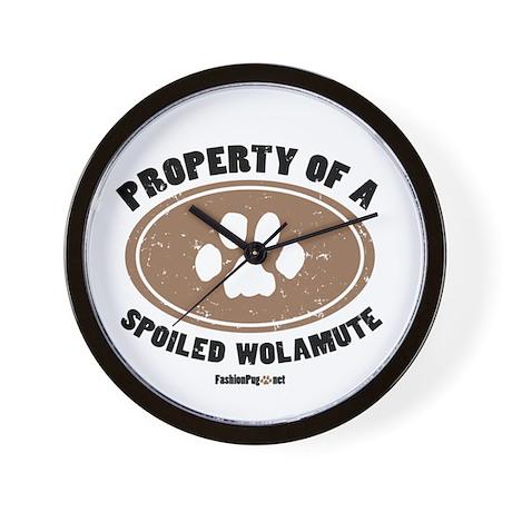 Wolamute dog Wall Clock