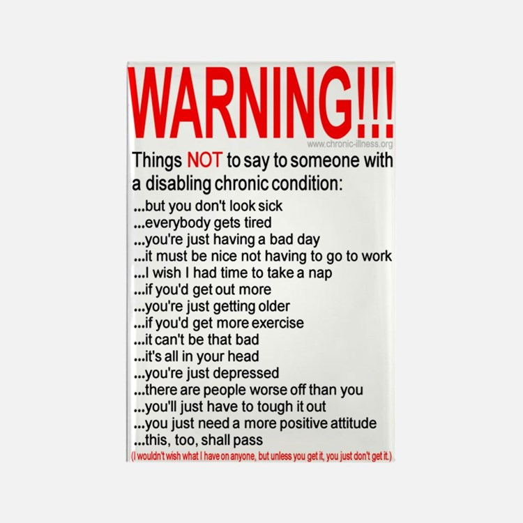Chronic Condition Warning Rectangle Magnet