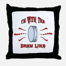 Tambourine Drumline Throw Pillow