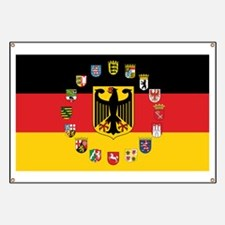 German Flag with State Arms Banner