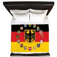 German Flag with State Arms King Duvet