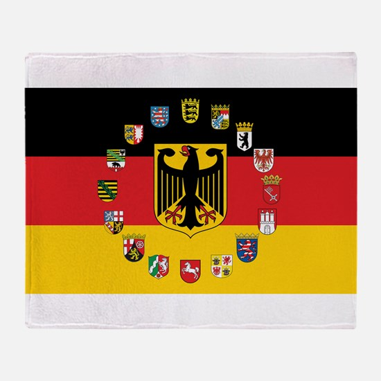German Flag with State Arms Throw Blanket