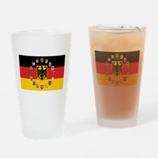 German Flag with State Arms Drinking Glass