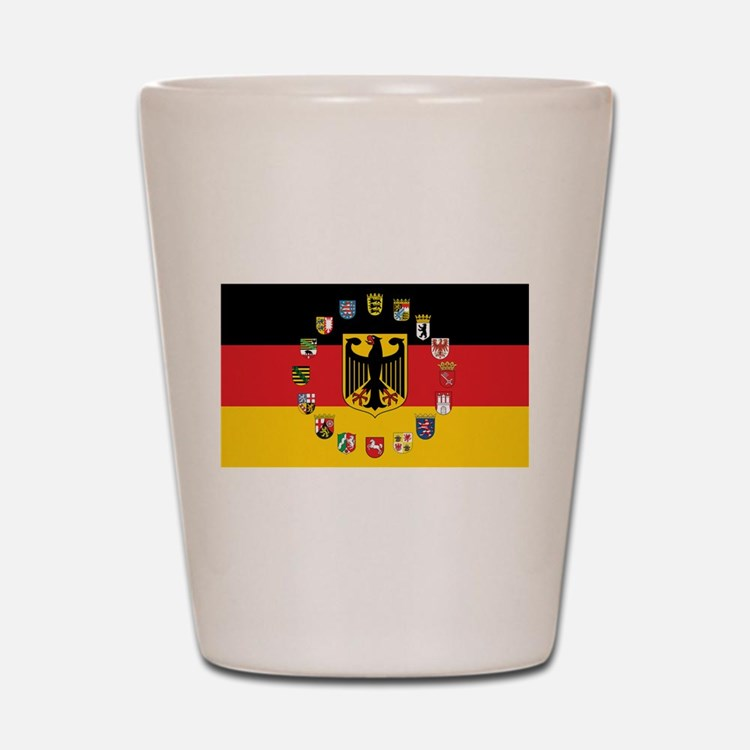 German Flag with State Arms Shot Glass
