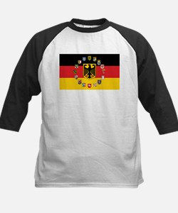 German Flag with State Arms Baseball Jersey