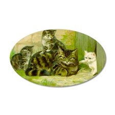 Vintage Cat and Kittens Wall Decal