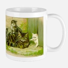 Vintage Cat and Kittens Mugs
