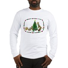 Squirrels Decorating Tree Long Sleeve T-Shirt