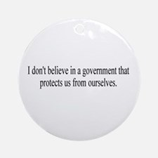 Government Protection? Ornament (Round)