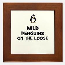 wild penguins on the loose Framed Tile