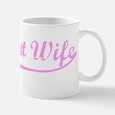 Vintage (Pink) Pregnant Wife Mug