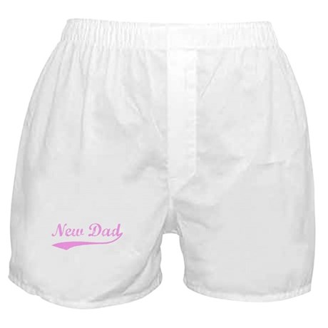 Vintage (Pink) New Dad Boxer Shorts