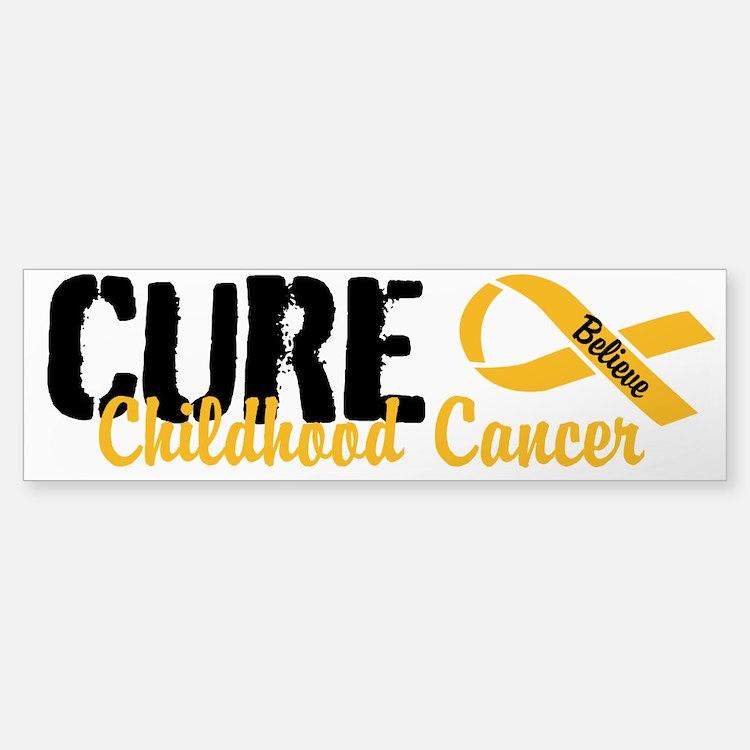 Cure Childhood Cancer Bumper Bumper Bumper Sticker