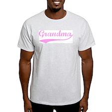 Vintage (Pink) Grandma Ash Grey T-Shirt