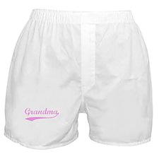 Vintage (Pink) Grandma Boxer Shorts