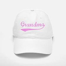 Vintage (Pink) Grandma Baseball Baseball Cap