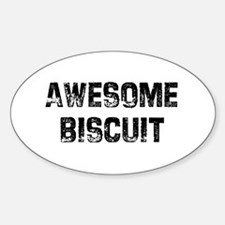 Awesome Biscuit Oval Decal