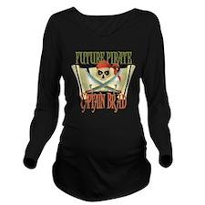 PirateBrad.png Long Sleeve Maternity T-Shirt