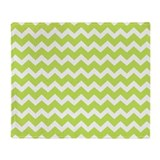 Green chevron Fleece Blankets