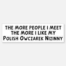 Polish Owczarek Nizinny: peop Bumper Bumper Bumper Sticker