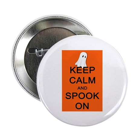 """Keep Calm and Spook On 2.25"""" Button (100 pack)"""