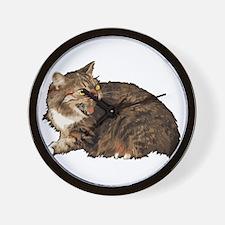 Angry Cat copy Wall Clock