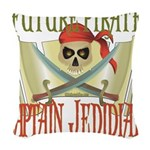 PirateJEDIDIAH.png Woven Throw Pillow