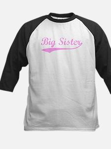 Vintage (Pink) Big Sister Kids Baseball Jersey