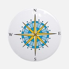 Compass Rose Ornament (Round)