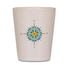 Compass Rose Shot Glass