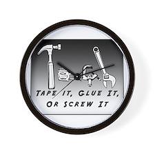 Tech Wall Clock - Tape it, Glue it, or Screw it