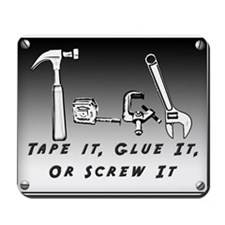 Mousepad - Tape it, Glue it, or Screw it!
