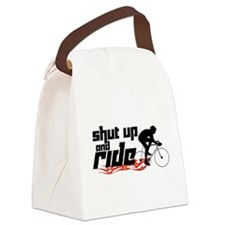 Shut Up and Ride Canvas Lunch Bag
