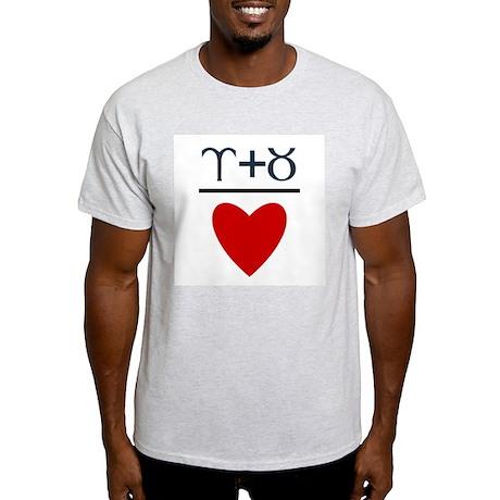 Aries + Taurus = Love Light T-Shirt